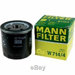10x Original Mann Oil Filter W 714/4 + 10x Sct Engine Flush Flushing