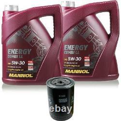 5l Mannol 5w-30 Break LL + Mann-filter Fiat Ducato Box 250 140 Natural Power