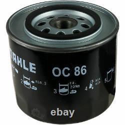 5x Original Mahle / Knecht Oil Filter Oc 86 + 5x Sct Flush Engine Rinsing