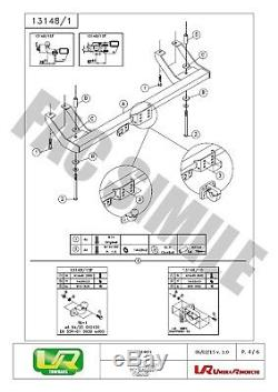 7b + Kit For Hitch Flange Ball Hitch 4x4 Fiat Ducato 94-06 13148 / En 1sf