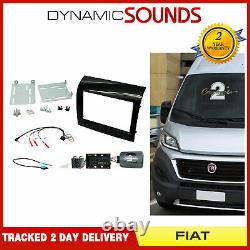 Ctkft10 Double Din Autoradio Carenage Fixing Kit For Fiat Ducato (2014) X290