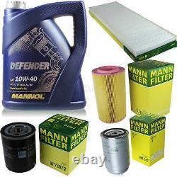Engine Oil 5l Mannol Defender 10w-40 + Mann-filter Fiat Ducato Bus 230 1.9 Td