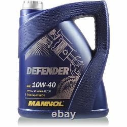 Engine Oil 6l Mannol Defender 10w-40 - Mann-filter Fiat Ducato Bus 230 1.9 Td