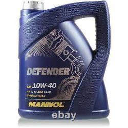 Engine Oil 7l Mannol Defender 10w-40 - Mann-filter Fiat Ducato Box 244 2.3