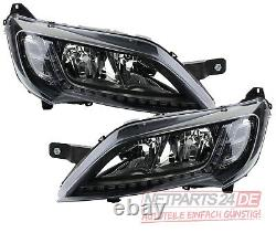 For Fiat Ducato 250 From 06/14- Black Lighthouses With Led Lights Like Kit