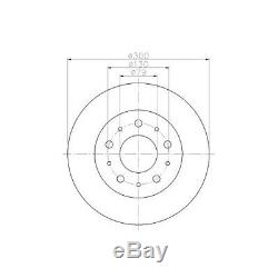 Kit Brake Discs Pd312q 17767 0986479317 1815201945 1815201946 1815201950