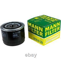 Liqui Moly 7 Litre Toptec 4100 5w-40 Engine Oil - Mann-filter Set For Fiat