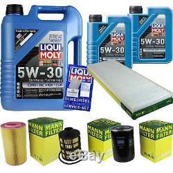 Liqui Moly 7l Date Long High Tech 5w-30 Motor Oil + Mann-filter Fiat