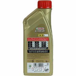Sketch Inspection Filter Castrol 7l Oil 5w30 For Vw Polo 6r 6c 1.4 Tdi
