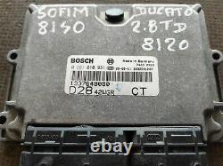 Start Kit 0281010931 1337648080 Fiat Ducato 2.8 Jtd 2003 8140.43s
