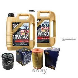 10L Set D'Inspection Liqui Moly Bon Fonctionnement 10W-40 + SCT Filtres 11231875