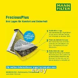 3x Mann Filtre D'Habitacle mannol Filtre à Air Fiat Ducato Boîte 250