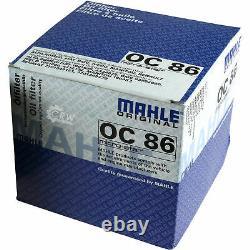 5x Original Mahle / Knecht Filtre à Huile Oc 86 + 5x Sct Moteur Flush Rinçage de