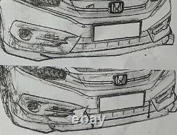 Charbon Peinture Spoiler Avant Éclat Pour Fiat Ducato Volets Diffuseur Lèvre