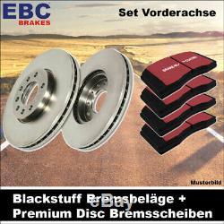 EBC Kit de Freins Essieu Étoffe Noire Plaquettes Premium Disc Disques 24420