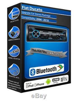 Fiat Ducato Lecteur CD, Sony MEX-N4200BT Autoradio Kit Main Libre Bluetooth, aux