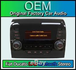 Fiat Ducato Stereo DAB Radio, Kit Main Libre Bluetooth, 250 Vp1 avec Code