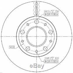 Kit Disques De Frein Avant Pd138q 180301300 142173 F2006v 561984b Bdm615120
