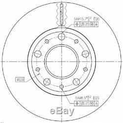 Kit Disques De Frein Avant Pd138q-1 180301300 142173 F2006v 561984b Bdm615120