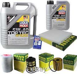 LIQUI MOLY 6 Litre Toptec 4100 5W-40 huile moteur + Filtre Set Pour Fiat Ducato