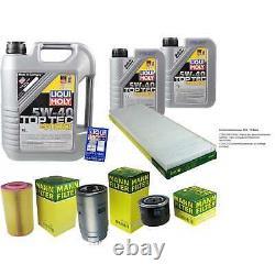 LIQUI MOLY 7 Litre Toptec 4100 5W-40 huile moteur + Mann-Filter Set Pour Fiat