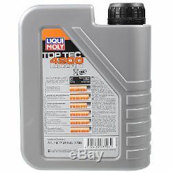 LIQUI MOLY 7 Litre Toptec 4200 5W-30 huile moteur Mann Set Pour Fiat Ducato