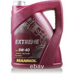 MANNOL 7L Extreme 5W-40 Huile moteur + MAN-FILTER Fiat ucato Bus 250 120