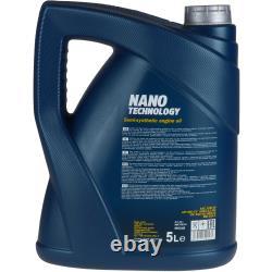 MANNOL 7L Nano Tech 10W-40 huile moteur + Mann-Filter Pour Fiatucato Bus 250