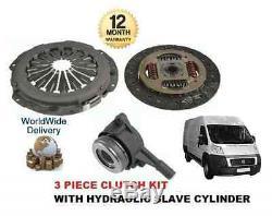 Pour Fiat Ducato 250 120 130 2.3 2006- Kit Embrayage 3 Pièce avec Hydraulique