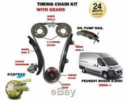Pour Peugeot Boxer 2.2 HDI 100 120 2006 Neuf Distribution Kit Chaîne + Gears